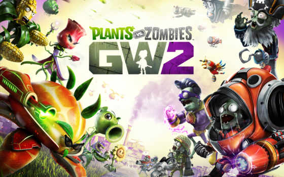 zombies, plants, warfare, garden, fondos, pantalla, descargar,
