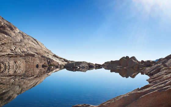 озеро, горное, природы