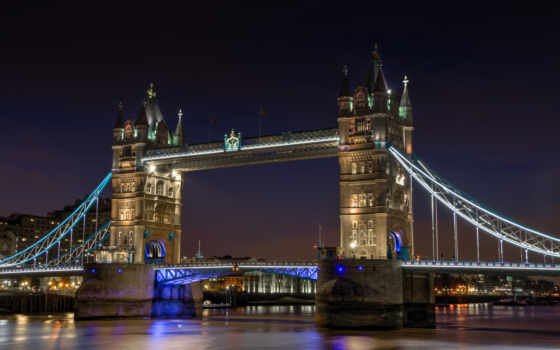мост, башня, ночь Фон № 143116 разрешение 4824x2897