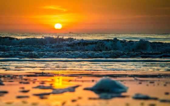 море, ocean, waves, beaches, берег, закат, восход, splash, брызги,
