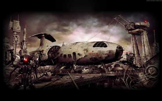 корабль, будет, фантастика, robot, звездолёт, свалка, everything, леонов,