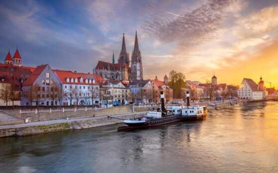 город, germanii, peter, cathedral, собрать, закат, информация, качественные, экскурсия