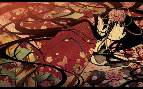 anime, гейша Фон № 67190 разрешение 1920x1200