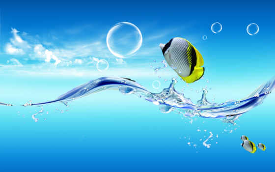 креатив, воды, вытащенная