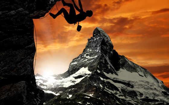 climber, гора, маттерхорн, just,