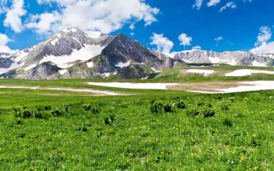 природа, горы, landscape, совершенн, scenery, взгляд, higlands, зелёный, трава,