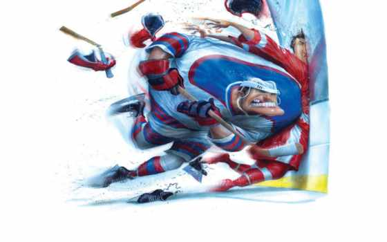 хоккей, клюшка,