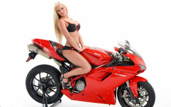 girls, мотоцикл, девушка