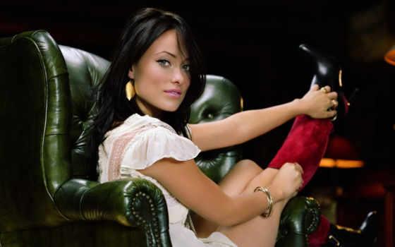 девушка, уайлд, olivia, кресло, skin, актриса, кресле, wilde,