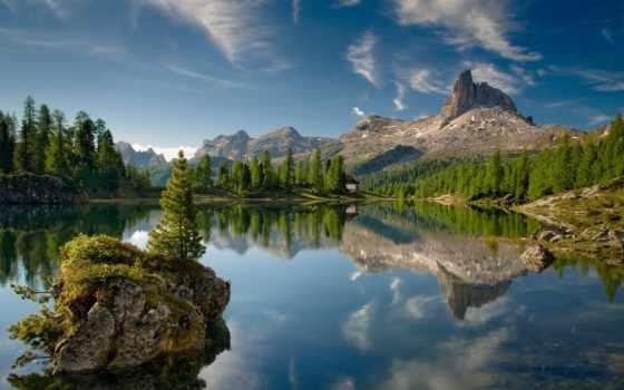 озеро, лес, горы, italian, остров, подробнее, лесу, природа, озера, landscape,