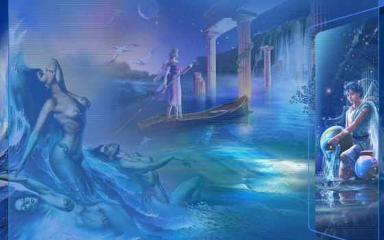 водолей, kagaya, fantasy, рубрики, картинка, zodiac, красивая,