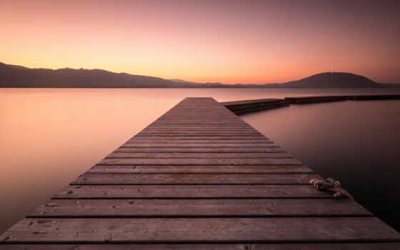 landscape, горизонт, природа, озеро, дерево, water, небо, рассвет, гора, море, пляж