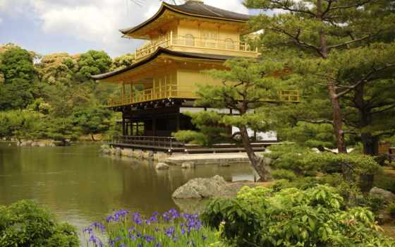 kinkaku, дзи, япония, kyoto, pavilion,