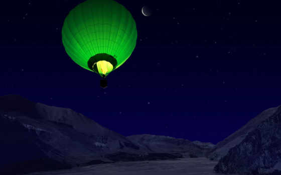 воздушный, шар Фон № 7259 разрешение 1600x1200