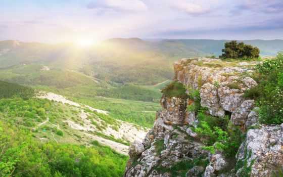 долина, скала, тропинки, вид, лес, голубое, высота, деревья, небо, замечательный, облака, природа, камни, desktop, картинку, картинка, зелёная, правой, кнопкой, мыши, выберите,