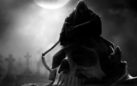 смерть, череп, капюшон