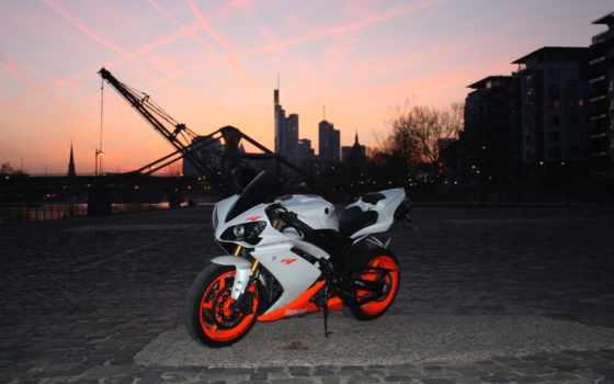 мотоциклы, yamaha, alcatel, am, от, мотоцикл, главное, город, мост,
