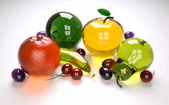 фрукты, стеклянные, glass, ягоды,