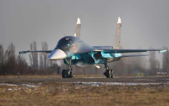 ,су-34, russia, истребитель, взлет,