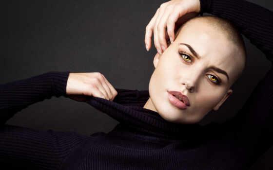 модель, pierce, лысый, девушка, sweater, vendela, bella, lindblom, устройство
