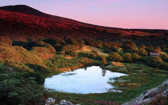 озеро, великобритания, wales