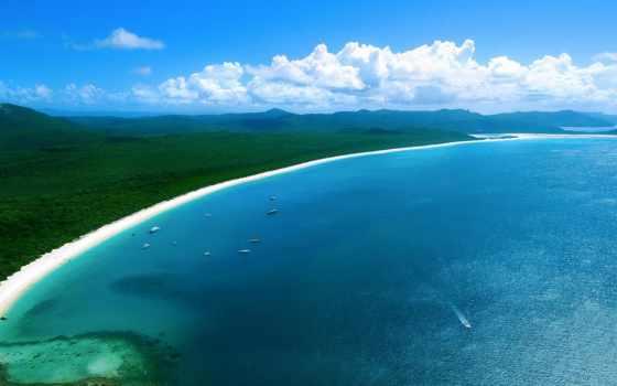 пляж, whitehaven, австралия