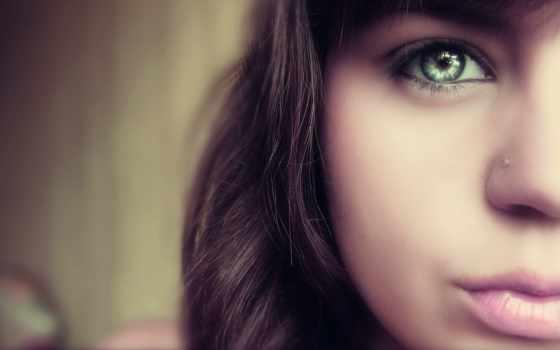 девочка, лицо, глаз