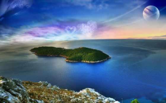 ocean, природа, остров