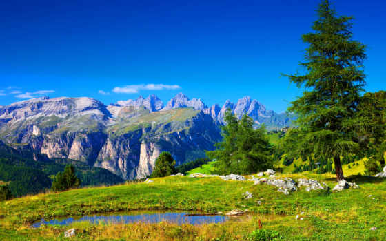 горы, природа, tapety, příroda, plochu, alpes, альпы, zdarma, stromy, trees,