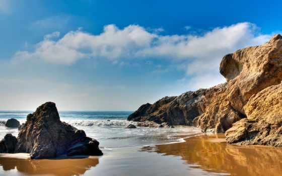 malibu, пляж, море, наслаждаемся, рисунок,
