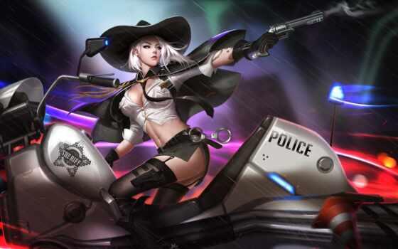 шериф, ashe, девушка, liang, overwatch, gigabyte, пепельный, китаянка
