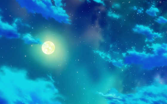 ночь, луна Фон № 7522 разрешение 1920x1080