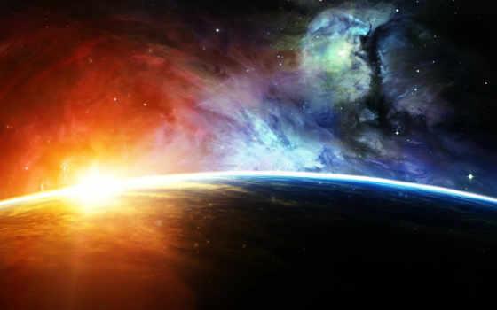 планета, space, свет