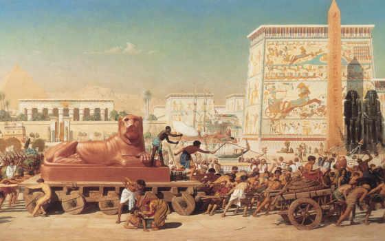 древний, египет, живопись, живописи, живопись, картина, февр,