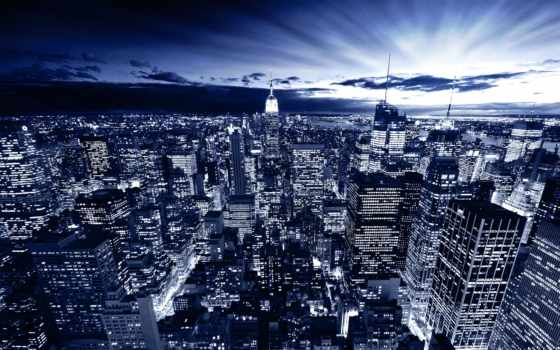 new, город, york