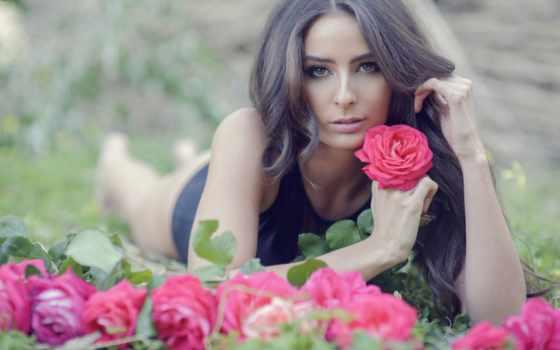 девушка, русик, похожа, таксист, весенние, женщина, розу, весны, пейзажи -, музыка, роза,