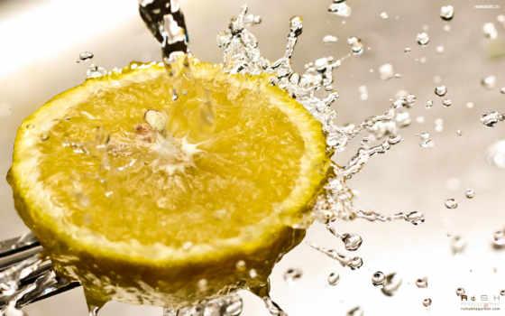 splash, lemon