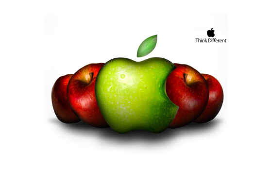apple, fond