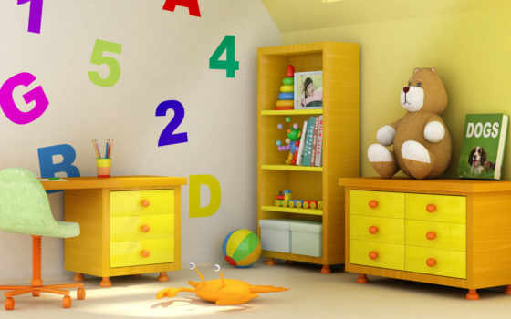 детской, комнаты, детская