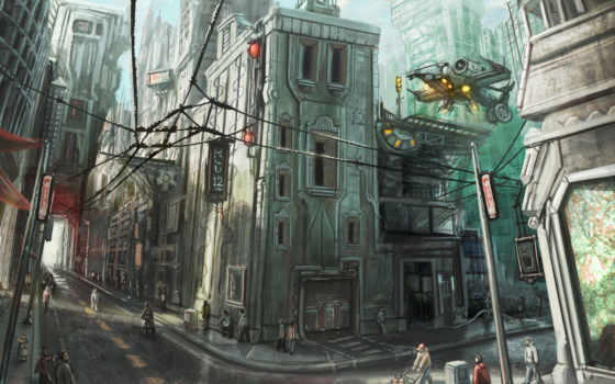 art, будущее, город Фон № 51086 разрешение 4800x2700