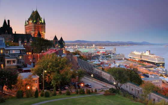quebec, канада, города, cruise, лайнер, природа, landscape, hdr, корабли, горы, ipad,