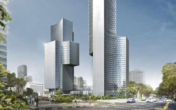 небоскрёб, building, город, duo, height, free, ft, singapore, images, pixabay, floors,