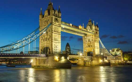 мост, города, башня