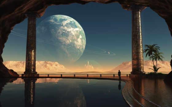 город, фантастика, planet