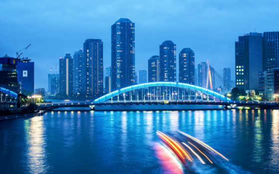 korean, южная, столица, вечер, сеул, небоскребы, город, подсветка, города,