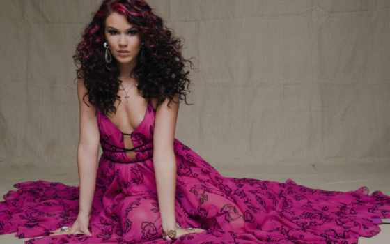 joss, камень, волосы, розовый, women, pinterest, cleavage, скалы, brunettes, платье,