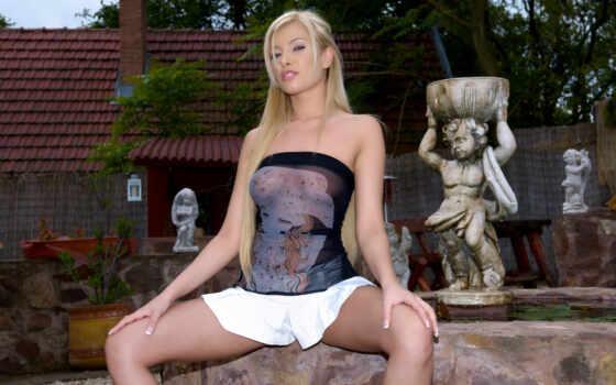 donna, blonde, erotic