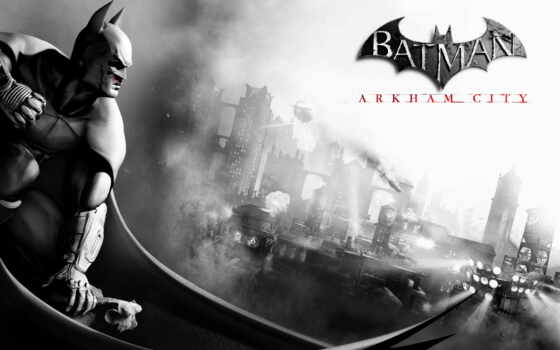 batman, arkham, city