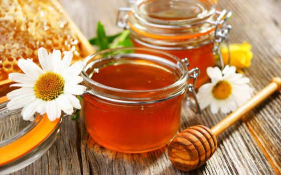 мед, цветы, ромашки