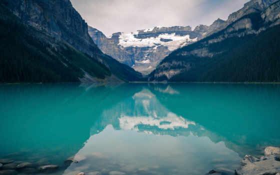 , вода, озеро, горы, скалы,